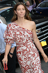 August 15, 2018 - New York, NY, USA - August 15, 2018 New York City..Jessica Biel arriving to 'The Late Show with Stephen Colbert' in New York City on August 15, 2018. (Credit Image: © Kristin Callahan/Ace Pictures via ZUMA Press)