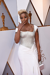 March 4, 2018 - Los Angeles, California, U.S. - MARY J. BLIGE, wearing a Versace gown, arrives on the red carpet for the 90th Annual Academy Awards at the Dolby Theatre. (Credit Image: © Kevin Sullivan via ZUMA Wire)