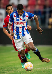 12-05-2018 NED: FC Utrecht - Heerenveen, Utrecht<br /> FC Utrecht win second match play off with 2-1 against Heerenveen and goes to the final play off / (L-R) Urby Emanuelson #18 of FC Utrecht, Denzel Dumfries #2 of SC Heerenveen