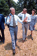Jimmy Carter leaving church picnic with Mondales. - To license this image, click on the shopping cart below