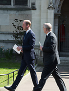 THE DUKE OF CAMBRIDGE; PRINCE ANDREW, , Service of thanksgiving for  Lord Snowdon, St. Margaret's Westminster. London. 7 April 2017