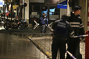 Nov. 23, 2015 - Brussels, BELGIUM - 20151122 - BRUSSELS, BELGIUM: <br /> <br /> police, Monday 23 November 2015, in Brussels. The terrorist threat level is being kept at level four, the maximum, for the time being, in Brussels region, and has be maintained at level three for the rest of the country. All schools in Brussels and the subway stay closed.<br /> ©Exclusivepix Media