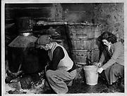 Poteen Makers in Ireland 1950's.<br /> Photo Harry MacMonagle