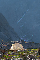 Backcountry camp in Indian Basin, Bridger Wilderness,  Wind River Range Wyoming