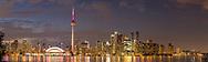 60912-00317 Toronto skyline at night from Toronto Island Park Toronto, Ontario Canada