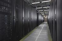 Interior image of main server area in DC6 Data Center in Manassa VA