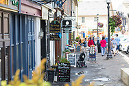 Historic Mill Street shopping in downtown Elora, Ontario, Canada