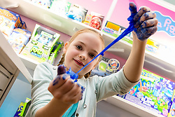 Cra-Z-Slimy Creations Super Slime Studio from Character Options retails for £29.99. Ahead of Christmas the Dream Toys exhibition at St Mary's Church in Marylebone, London showcases the hottest toys in the market including the top twelve. London, November 14 2018.