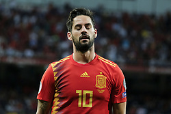 June 11, 2019 - Madrid, Spain - Isco of Spain in action during the EURO Qualifier match between Spain v Sweden at the Estadio Santiago Bernabeu on June 10, 2019 in Madrid Spain Photo: Oscar Gonzalez/NurPhoto  (Credit Image: © Oscar Gonzalez/NurPhoto via ZUMA Press)