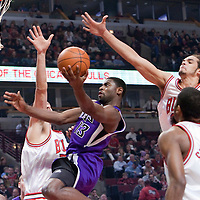 21 December 2009: Sacramento Kings guard Tyreke Evans goes to the basket for the layup during the Sacramento Kings 102-98 victory over the Chicago Bulls at the United Center, in Chicago, Illinois, USA.