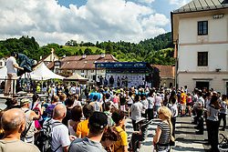 Trophy ceremony after the 3rd Stage of 26th Tour of Slovenia 2019 cycling race between Zalec and Idrija (169,8 km), on June 21, 2019 in Slovenia. Photo by Vid Ponikvar / Sportida