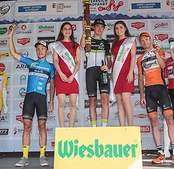 07.07.2017, St. Johann Alpendorf, AUT, Ö-Tour, Österreich Radrundfahrt 2017, 5. Etappe von Kitzbühel nach St. Johann/Alpendorf (212,5 km), im Bild v.l. Riccardo Zoidl (AUT, Team Felbermayr Simplon Wels), Ben O'Connor (AUS, Team Dimension Data) Etappensieger, Pieter Weening (NED, Roompot Nederlandse Loterij) // f.l. Riccardo Zoidl of Austria (Team Felbermayr Simplon Wels) Ben O'Connor of Australia (Team Dimension Data) stage winner Pieter Weening of Nederlands (Roompot Nederlandse Loterij) during the 5th stage from Kitzbuehel to St. Johann/Alpendorf (212,5 km) of 2017 Tour of Austria. St. Johann Alpendorf, Austria on 2017/07/07. EXPA Pictures © 2017, PhotoCredit: EXPA/ Reinhard Eisenbauer