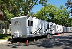 Movie trailers line Azuar Street on Mare Island as oscar-winning director Paul Thomas Anderson's  film  'The Master' begins filming.  The post WWII-era movie will star Philip Seymour Hoffman, Joaquin Phoenix, Amy Adams and Laura Dern.