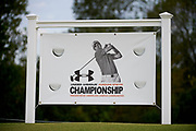 A sign for the Under Armour® / Jordan Spieth Championship presented by American Campus Communities at Trinity Forest Golf Club in Dallas, Texas on August 15, 2017. CREDIT: Cooper Neill for The Wall Street Journal<br /> JRGOLF