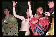 Paul Newman, Caroline Brown, Jane French, Clovis Meath Baker at Piers Gaveston Ball. Oxford Town Hall. 1981 approx© Copyright Photograph by Dafydd Jones 66 Stockwell Park Rd. London SW9 0DA Tel 020 7733 0108 www.dafjones.com