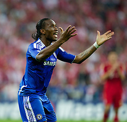 19.05.2012, Allianz Arena, Muenchen, GER, UEFA CL, Finale, FC Bayern Muenchen (GER) vs FC Chelsea (ENG), im Bild Chelsea's Didier Drogba celebrates scoring the equalising 1-1 goal to secure extra-time against FC Bayern Munchen during the Final Match of the UEFA Championsleague between FC Bayern Munich (GER) vs Chelsea FC (ENG) at the Allianz Arena, Munich, Germany on 2012/05/19. EXPA Pictures © 2012, PhotoCredit: EXPA/ Propagandaphoto/ Vegard Grott..***** ATTENTION - OUT OF ENG, GBR, UK *****