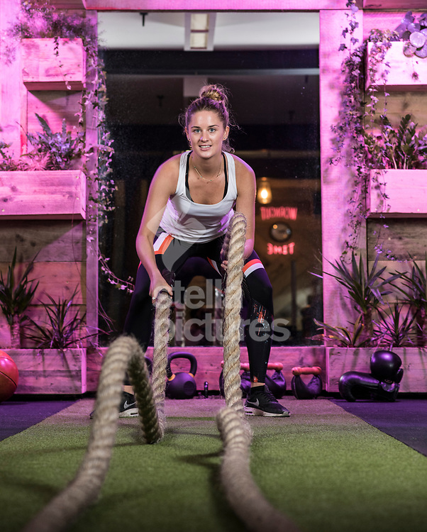 Personal trainer Lucy de Roeper pictured at Terra Hale, eco gym. <br /> Picture by Daniel Hambury/@stellapicsltd 07813022858<br /> 16/03/2018