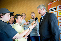 Ales Pipan, head coach of KK Union Olimpija during press conference before Final of Telemach League - Slovenian basketball Championship 2013/14 on May 20, 2014 in Hotel Plaza, Ljubljana, Slovenia. Photo by Vid Ponikvar / Sportida
