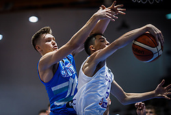 Glas  Gregor of Slovenia vs Nikolaidis  Alexandros of Greece during basketball match between National teams of Greece and Slovenia in the Group Phase C of FIBA U18 European Championship 2019, on July 29, 2019 in  Nea Ionia Hall, Volos, Greece. Photo by Vid Ponikvar / Sportida