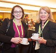 20/11/2014  repro free  Deirdre Horkan, Myles Staunton & Co Solicitors and Marguerite O Donnell , MOD Nutrition Consultancy,  at the Galway Bay Hotel for the two day conference Meet West attracting over 400 business people from around Ireland for the largest networking event in the Country . Photo:Andrew Downes