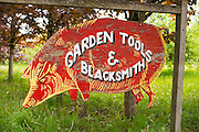 Sign for the Red Pig Tool store in Boring, Oregon.