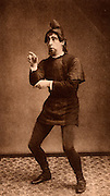 Edward C Compton (1854-1918) English actor-manager who specialised in touring the English provinces with plays by Shakespeare, Sheridan and Goldsmith.  Compton as Dromio of Syracuse in 'The Comedy of Errors' by William Shakespeare. Photogravure c1895.