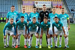 Team of Slovenia before friendly Football match between U21 national teams of Slovenia and England, on October 11, 2019 in Ljudski Vrt, Maribor, Slovenia. Photo by Blaž Weindorfer / Sportida