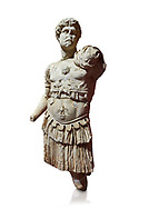 Roman statue of Emperor Hadrian. Marble. Perge. 2nd century AD. Inv no 3053. Antalya Archaeology Museum; Turkey. Against a white background. .<br /> <br /> If you prefer to buy from our ALAMY STOCK LIBRARY page at https://www.alamy.com/portfolio/paul-williams-funkystock/greco-roman-sculptures.html . Type -    Antalya     - into LOWER SEARCH WITHIN GALLERY box - Refine search by adding a subject, place, background colour, museum etc.<br /> <br /> Visit our ROMAN WORLD PHOTO COLLECTIONS for more photos to download or buy as wall art prints https://funkystock.photoshelter.com/gallery-collection/The-Romans-Art-Artefacts-Antiquities-Historic-Sites-Pictures-Images/C0000r2uLJJo9_s0