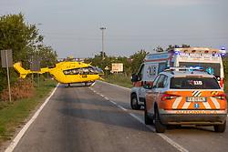 ELISOCCORSO ELIRAVENNA ELIAMBULANZA 118<br /> INCIDENTE SCONTRO AUTO MOTO SP1 OSTELLATO