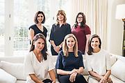 BIRMINGHAM, AL – SEPTEMBER 4, 2019: Portrait of Eleni Shipp, Jennifer McGraw, Nina McKinney, Melissa Baker, Garland Reich and Elizabeth Stewart.