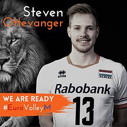 Steven Ottevanger of Netherlands, Photoshoot selection of Orange men's volleybal team season 2021on may 11, 2021 in Arnhem, Netherlands (Photo by RHF Agency/Ronald Hoogendoorn)