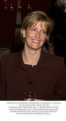 HRH THE COUNTESS OF WESSEXat a luncheon in London on 7th December 2000.	OJZ 46