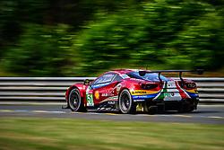 June 3, 2018 - Le Mans, FRANCE - 51 AF CORSE (ITA) FERRARI 488 GTE EVO GTE PRO ALESSANDRO PIER GUIDI (ITA) JAMES CALADO (GBR) DANIEL SERRA  (Credit Image: © Panoramic via ZUMA Press)