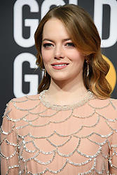 January 6, 2019 - Beverly Hills, California, United States of America - Golden Globe nominee Emma Stone attends the 76th Annual Golden Globe Awards at the Beverly Hilton in Beverly Hills, California on  Sunday, January 6, 2019. HFPA/POOL/PI (Credit Image: © Prensa Internacional via ZUMA Wire)