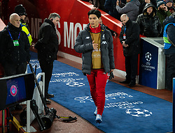 LIVERPOOL, ENGLAND - Wednesday, March 11, 2020: Liverpool's substitute Takumi Minamino before the UEFA Champions League Round of 16 2nd Leg match between Liverpool FC and Club Atlético de Madrid at Anfield. (Pic by David Rawcliffe/Propaganda)
