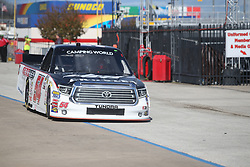November 1, 2018 - Fort Worth, TX, U.S. - FORT WORTH, TX - NOVEMBER 01: NASCAR Camping World Truck Series driver Bo LeMastus (54) drives down pit road during practice for the NASCAR Camping World Truck Series JAG Metals 350 on November 1, 2018 at Texas Motor Speedway in Fort Worth, TX. (Photo by George Walker/Icon Sportswire) (Credit Image: © George Walker/Icon SMI via ZUMA Press)