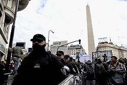 July 5, 2018 - INT. WorldNews. 2018 July 5, city of Buenos Aires, Argentina.- Journalists manifestare from the Obelisco to the CCK (Cultural Center) where is the National Media and Comunication office, against the dismissals of more than 350 journalists of the National Press Agency  (Credit Image: ©  via ZUMA Wire)