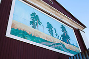Forest mural in Barentsburg, a Russian coal mining town in the Norwegian Archipelego of Svalbard. Once home to about 2000 miners and their families, less than 500 people now live here. There are no trees in Svalbard