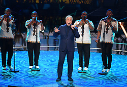 Sir Tom Jones performs at the Royal Albert Hall in London during a star-studded concert to celebrate the Queen's 92nd birthday.