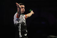 William O'Connor wins the match against James Wilson and celebrates during the World Darts Championships 2018 at Alexandra Palace, London, United Kingdom on 19 December 2018.