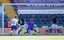 Kilmarnock's Kiltiescoring their third goal. Kilmarnock 4 v 0 Falkirk, second leg of the Scottish Premiership play-off final.