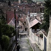 Brasov from hill, Brasov, Romania (July 2005)