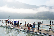 Aiguebelette, FRANCE. 2014 FISA World Cup II, 09:09:48  Thursday  19/06/2014. [Mandatory Credit; Peter Spurrier/Intersport-images] © Peter SPURRIER, Atmospheric, Rowing