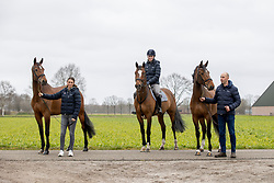 I'm Gonna Be Gentle, I'm the Next Be Gentle, It's Be Gentle, Knijnenburg Pascal, Laura, Bijl Larissa<br /> Stal Knijnenburg - Deurne 2021<br /> © Hippo Foto - Dirk Caremans<br /> 21/03/2021