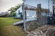 June 12, 2015, New Orleans, LA, handpainted church sign in Mid-city.