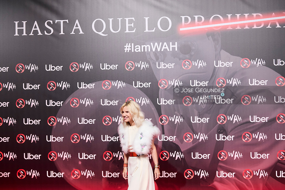 Eugenia Martinez de Irujo attends 'Wah' Musical Show World Premiere Red Carpet at IFEMA on October 7, 2021 in Madrid, Spain