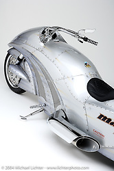 """Jet Bike,"" built after Arlen saw Jay Leno Ride one into an L.A. event. Was built with a Jet Engine from a helicopter. Appears in the book ""The King of Choppers,"" by Michael Lichter."