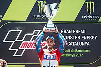 Andrea Dovizioso of Italy and Ducati Team during the race of  MotoGP of Catalunya at Circuit de Catalunya on June 11, 2017 in Montmelo, Spain.(ALTERPHOTOS/Rodrigo Jimenez)