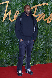 Virgil Abloh attending The Fashion Awards 2018 In Partnership With Swarovski at Royal Albert Hall in London, UK on December 10, 2018. Photo by Aurore Marechal/ABACAPRESS.COM