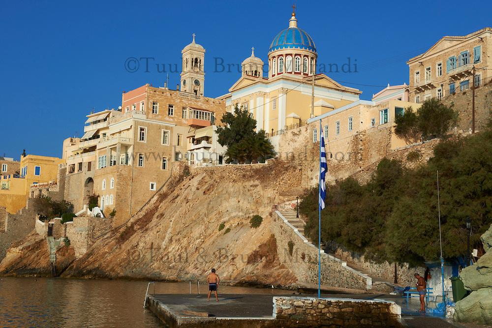 Grece, Cyclades, ile de Syros, Ermoupoli, eglise Agios Nikolaos // Greece, Cyclades islands, Syros island, Ermoupoli, Agios Nikolaos church